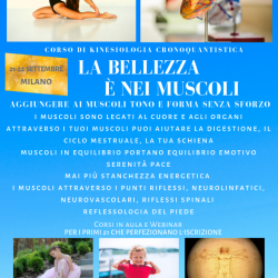 La bellezza è nei muscoli – Aggiungere ai muscoli tono e forma senza sforzo (Milano 21-22 settembre, Treviso 28-29 settembre)