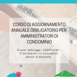 Corso di Aggiornamento annuale obbligatorio per Amministratori di Condominio
