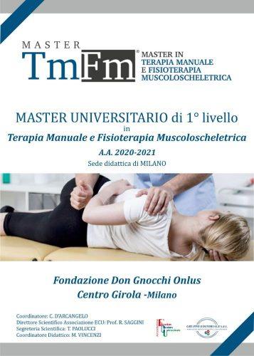 Master di I° livello in Terapia Manuale e Fisioterapia Muscoloscheletrica A.A. 2020/2021