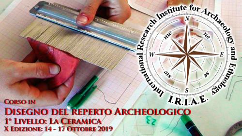 copertina disegno del reperto archeologico