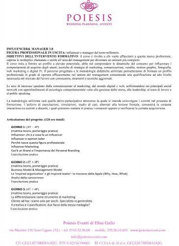 CORSO INFLUENCER&MANAGER 3.0 ABEA 3week NO -1