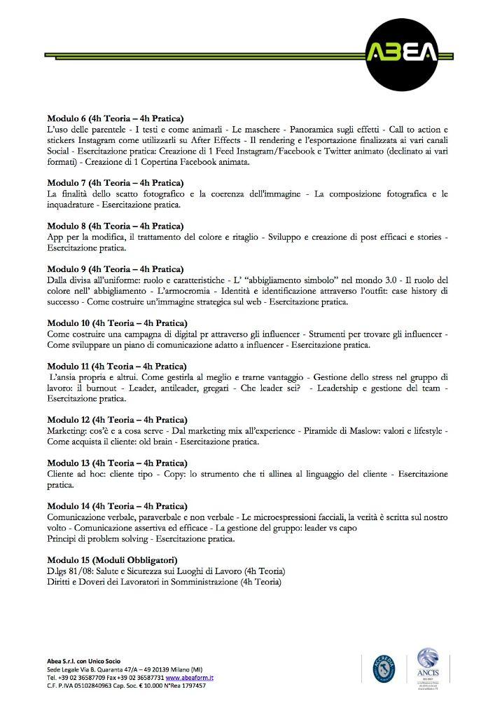 CORSO INFLUENCER & MANAGER 3.0  120h CARTA INTESTATA2