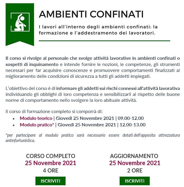 Ambienti Confinati 25.11.21